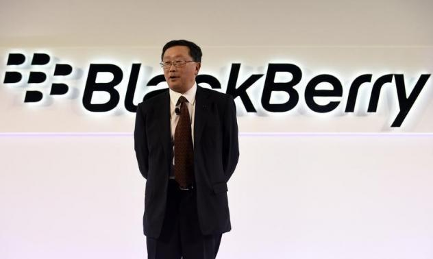 BlackBerry Chief Executive John Chen speaks during the official launch of the Passport smartphone in Toronto