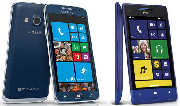 Sprint-Samsung-Ativ-S-HTC-8XT-Windows-Phone-81-updates