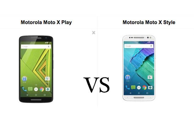 Moto x play vs moto X style