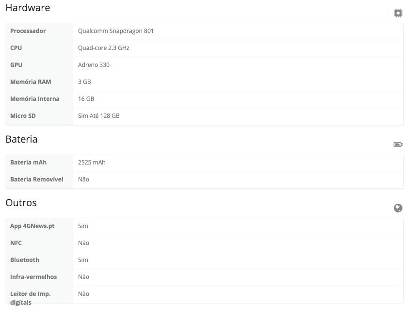 OnePlus X specs