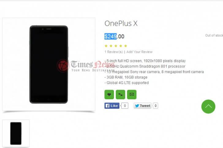 Oneplus x leak