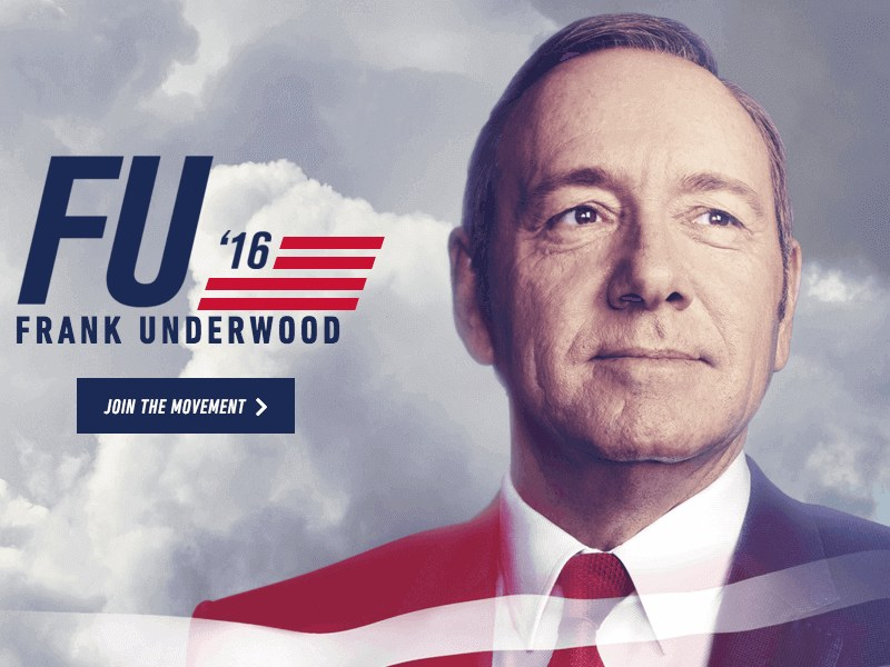 Frank Underwood volta em 2016 para a quarta temporada de House of Cards