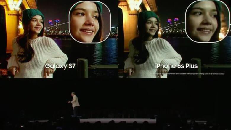 Samsung Galaxy S7 Camera diferença