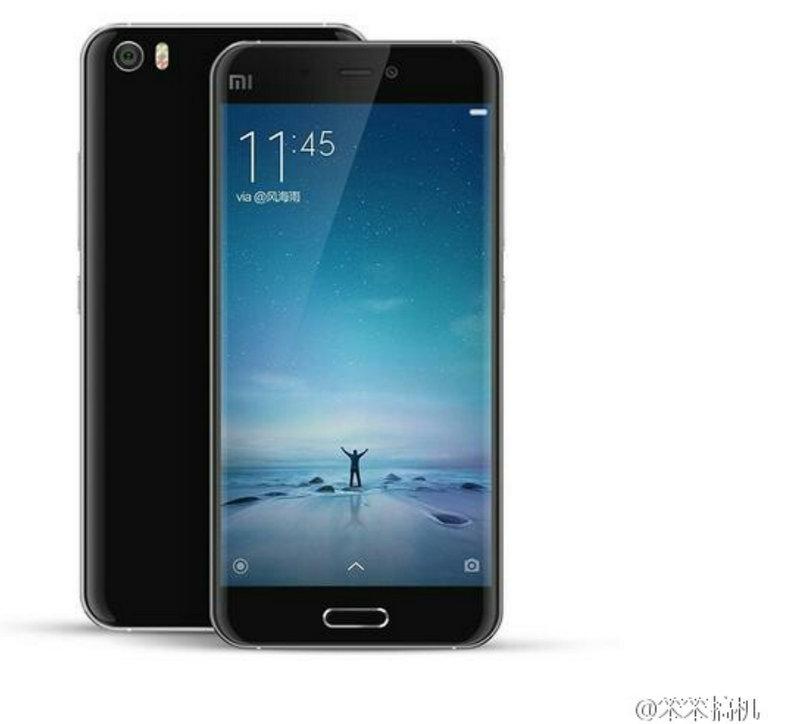 Xiaomi Mi5 em preto (render)