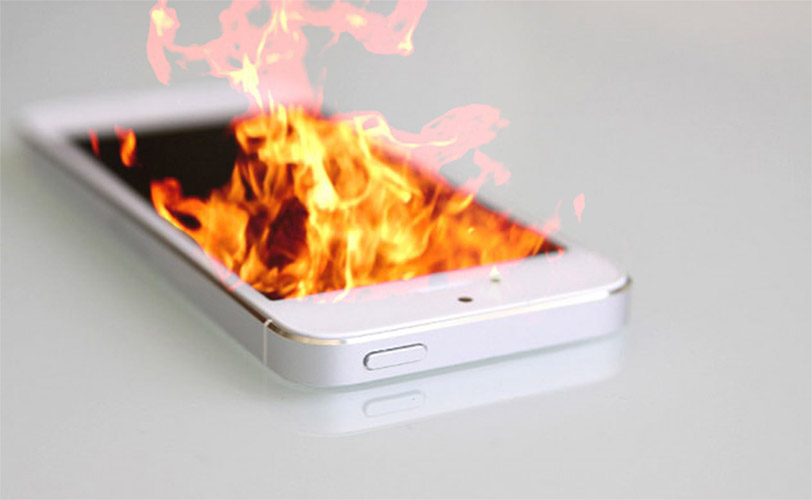iphone 5 on fire - 4gnews.pt