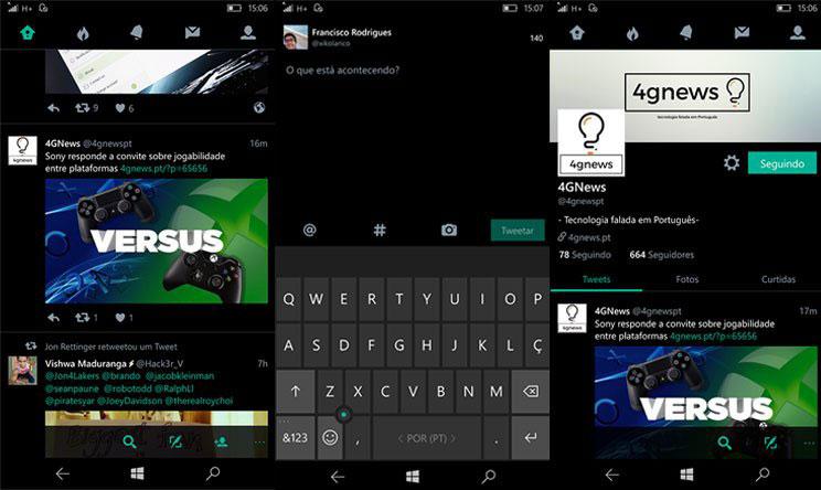 Windows 10 Mobile Twitter