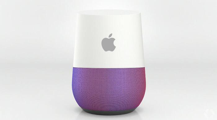 Google Home com logo Apple