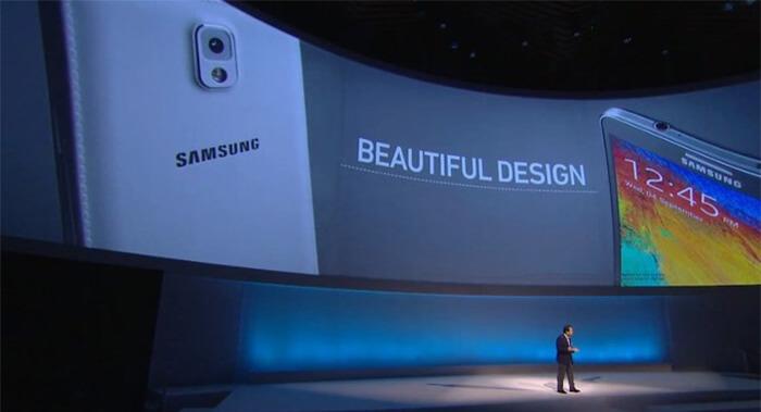 Samsung Note apresentação