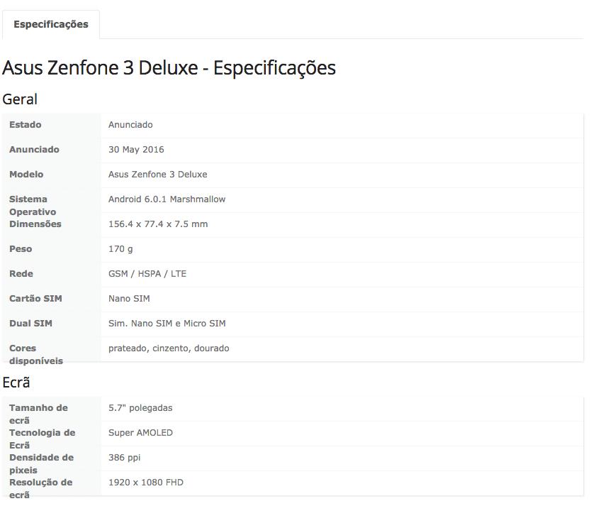 asus zenfone 3 deluze specs 2