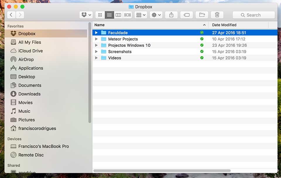 dropbox mac