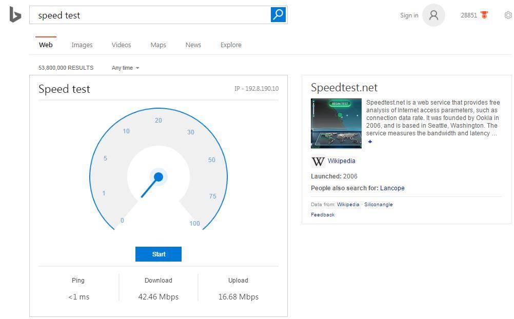 Bing-Speed-Test