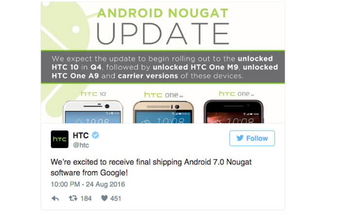 HTC one A9 nougat (1)