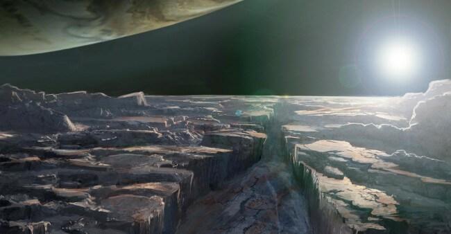 Visão esperada da lua Europa