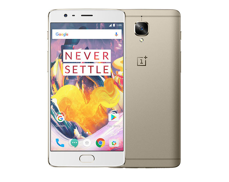 OnePlus 3T em dourado