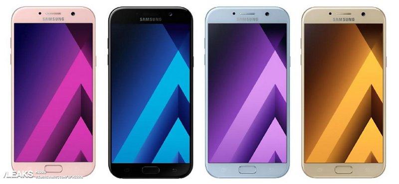 As cores do Galaxy A5