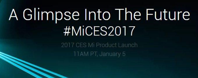 Xiaomi Teaser CES 2017