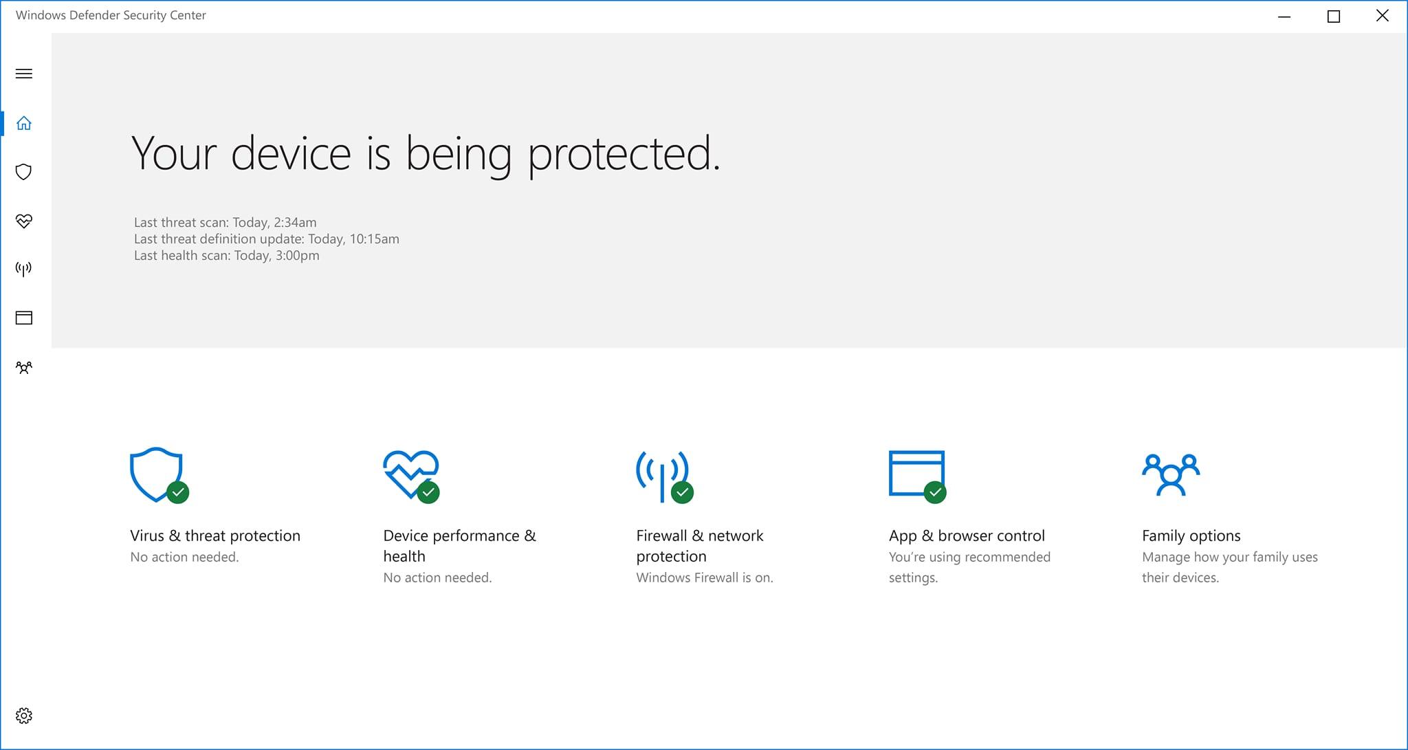 Windows 10 - Segurança