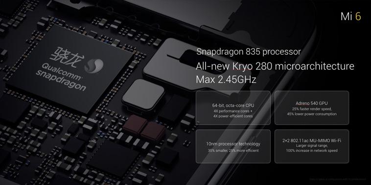 Xiaomi Mi6 Qualcomm Snapdragon