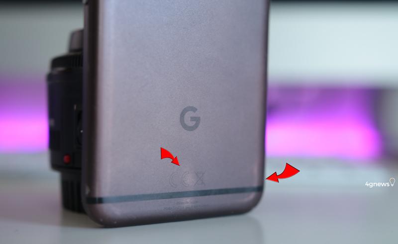 Google Pixel com perda de cor