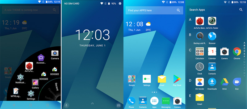 Novo User Interface da Doogee