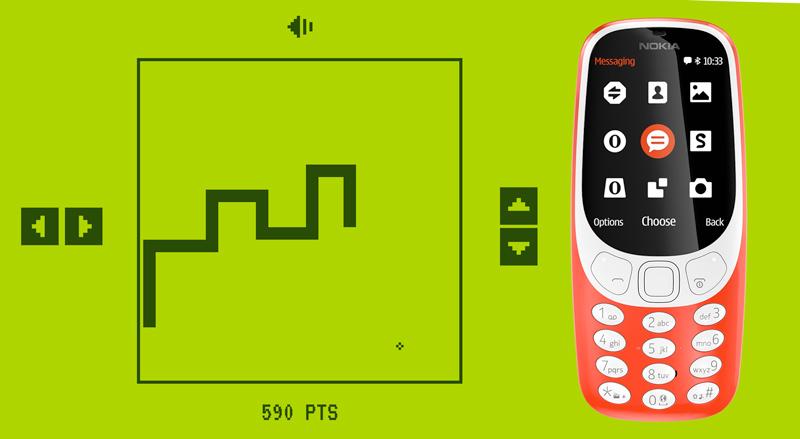 Prova que és master no jogo Snake e ganha um Nokia 3310