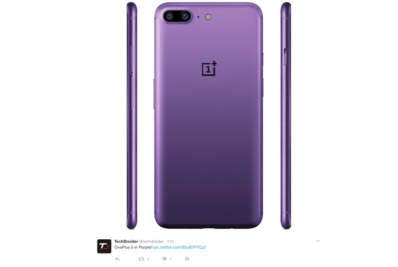 OnePlus 5 roxo | Crédito: TechDroider