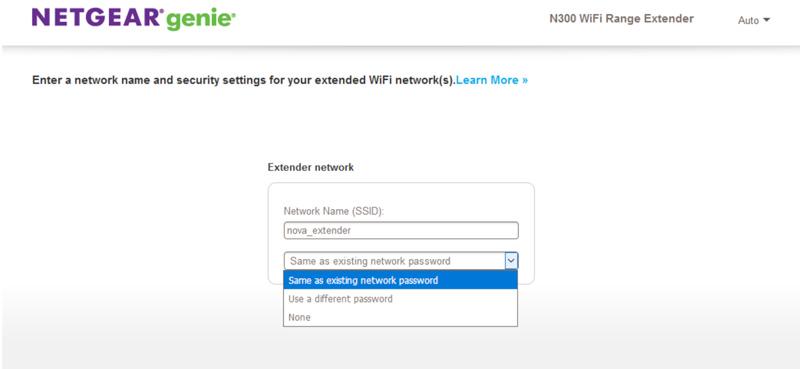 configurar extensor de rede