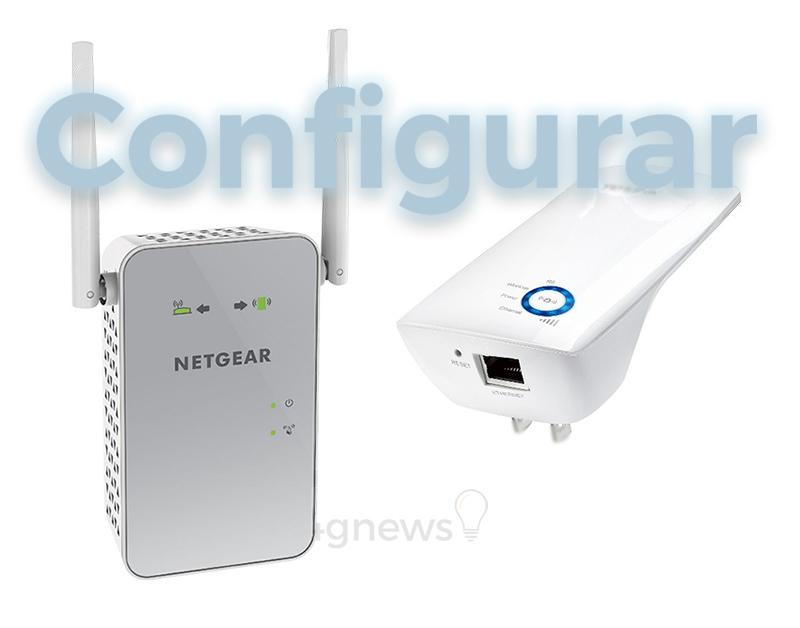 Configuar Extensor de Internet configuração