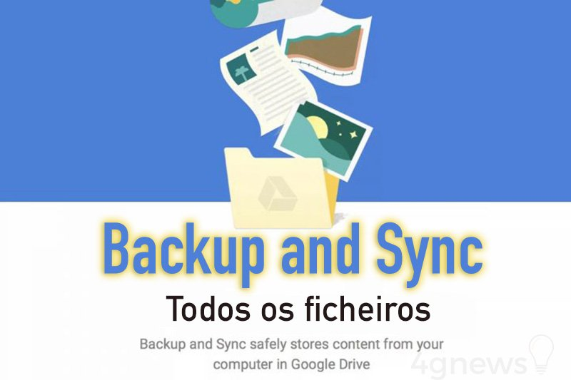 Google Backup and Sync Drive ficheiros