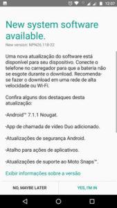 Motorola Moto Z Play Android Nougat
