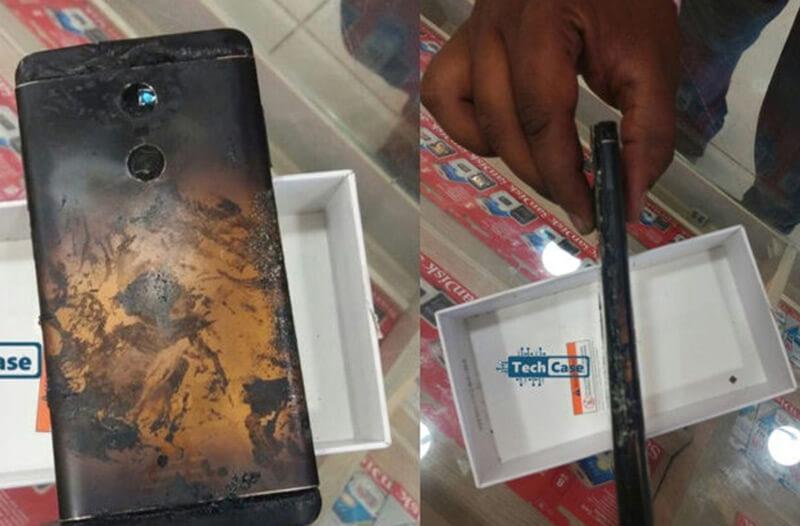 Xiaomi Redmi Note 4 depois da explosão