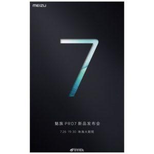 Convite evento do Meizu Pro 7