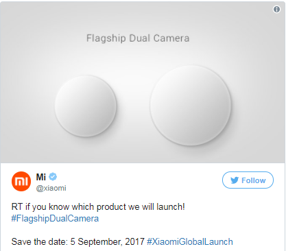 5 de Setembro Xiaomi Mi Mix 2