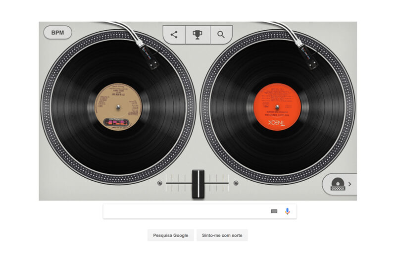 Página da Google quer que hoje sejas um DJ de Hip Hop