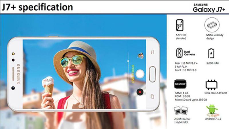 Samsung Galaxy J7+ Bixby