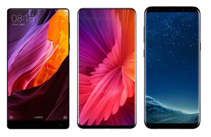 Samsung Galaxy S8 Xiaomi Mi Mix 2