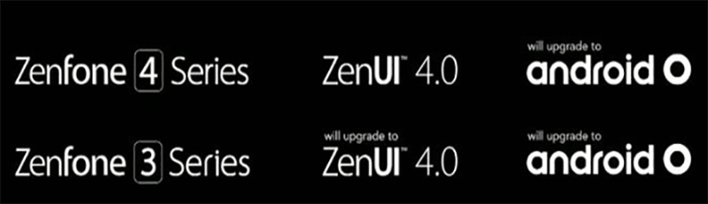 ASUS ZenFone 4 Android Oreo 8.0 update