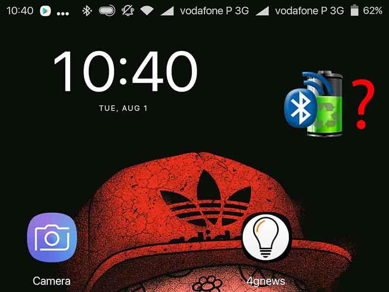 Bateria dos Gadgets Bluetooth no Android