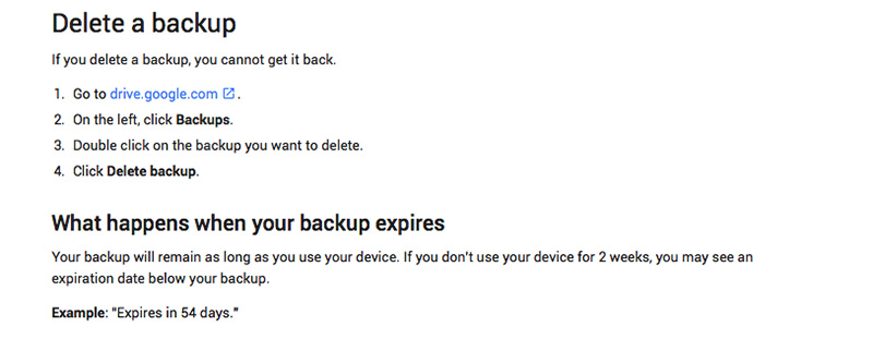 Android Google smartphone backup 1