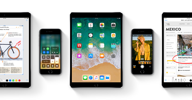 Apple iOS 11 iPhone iPad Surface Microsoft