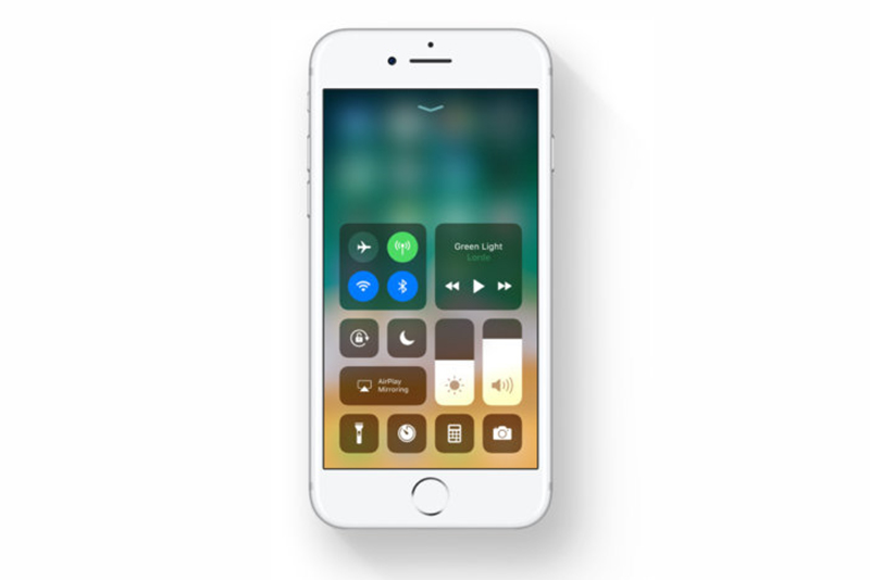 Apple iOS 11 Centro de Controlo Wi-Fi Bluetooth