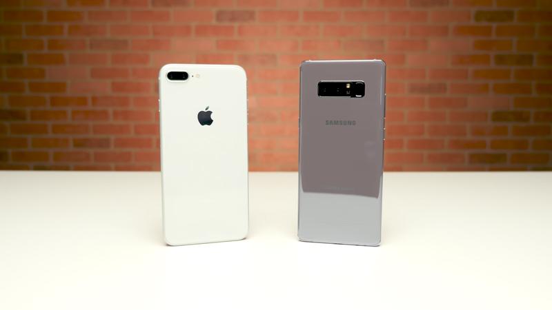 Apple iPhone 8 Plus VS Samsung Galaxy Note 8 - crédito: PhoneBuff