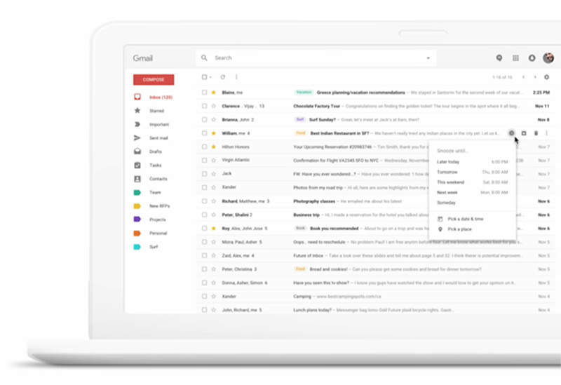 Google Gmail G Suite versão Web Android Gmail da Google