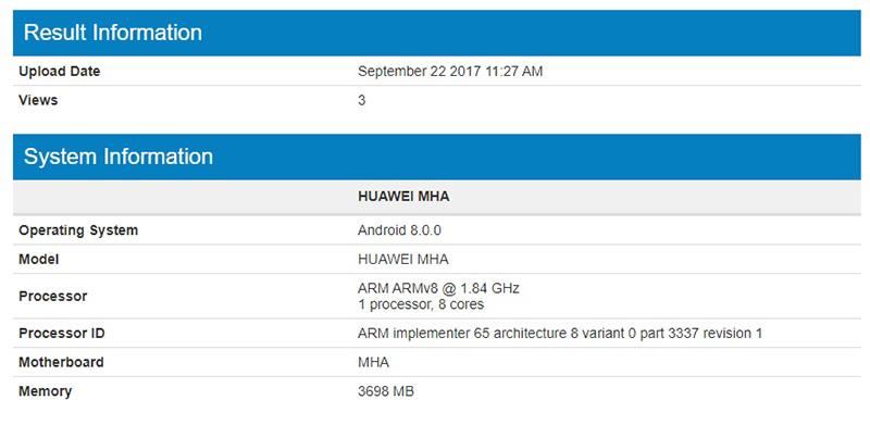 Huawei Mate 9 Andoid Oreo