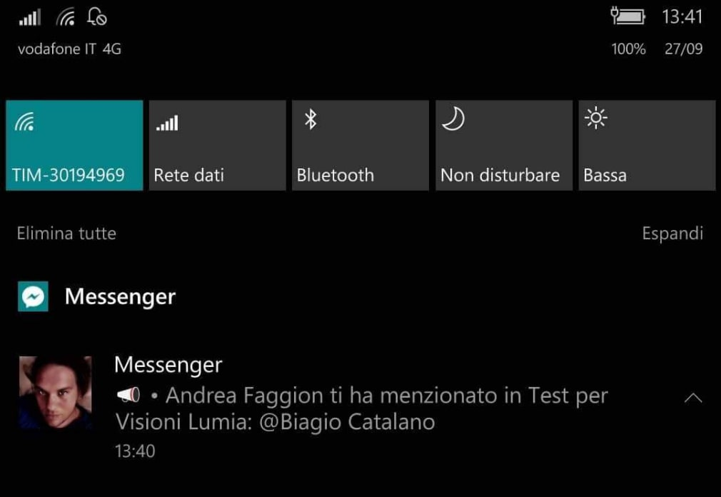 Microsoft Windows 10 Mobile Facebook Messenger