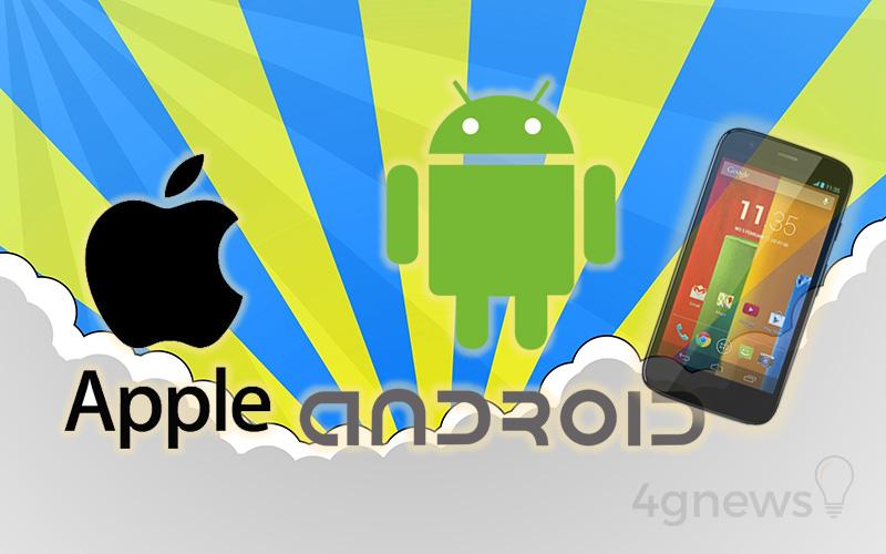 Motorola Moto G Apple iPhone 6 Android