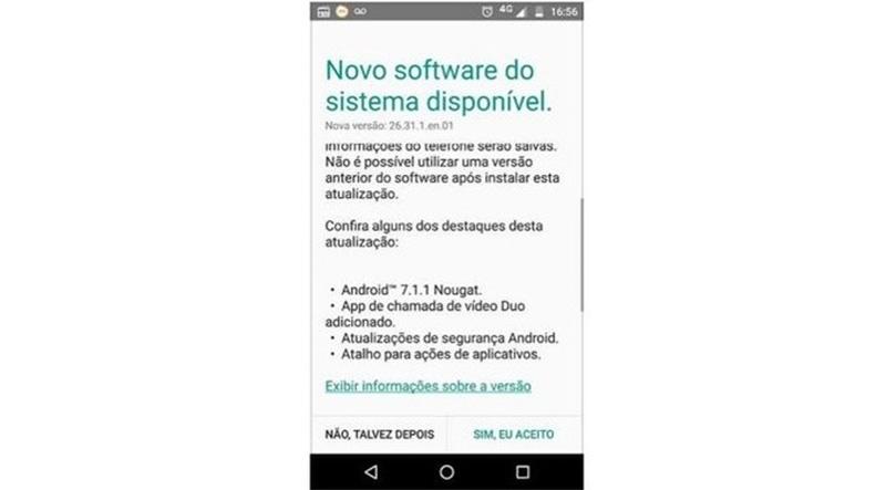 Motorola Moto X Play Brasil Android Nougat
