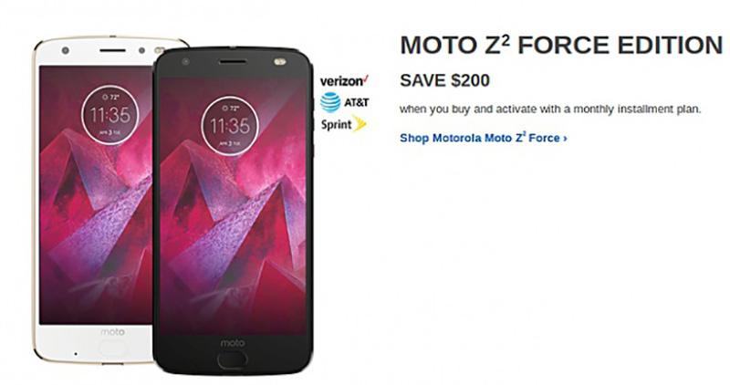 Motorola Moto Z2 Force Apple