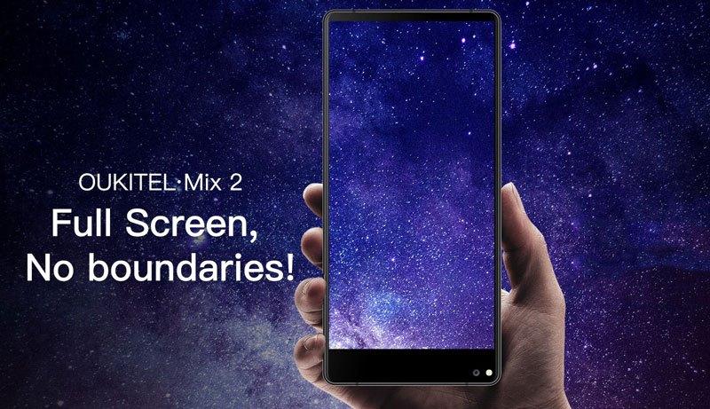 Oukitel Mix 2 e Oukitel C8 são os novos smartphones com Infinity Display