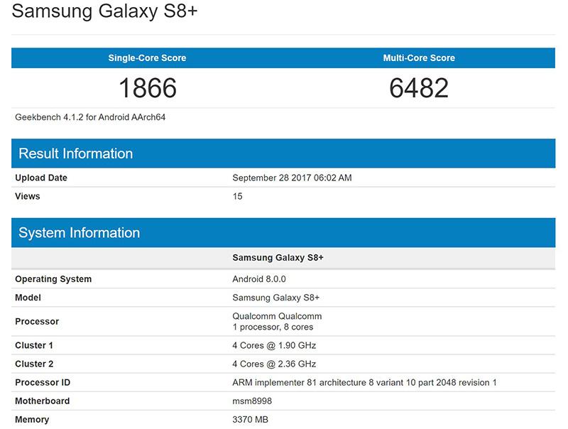 Samsung Galaxy S8 Android Oreo Samsung Galaxy S8+